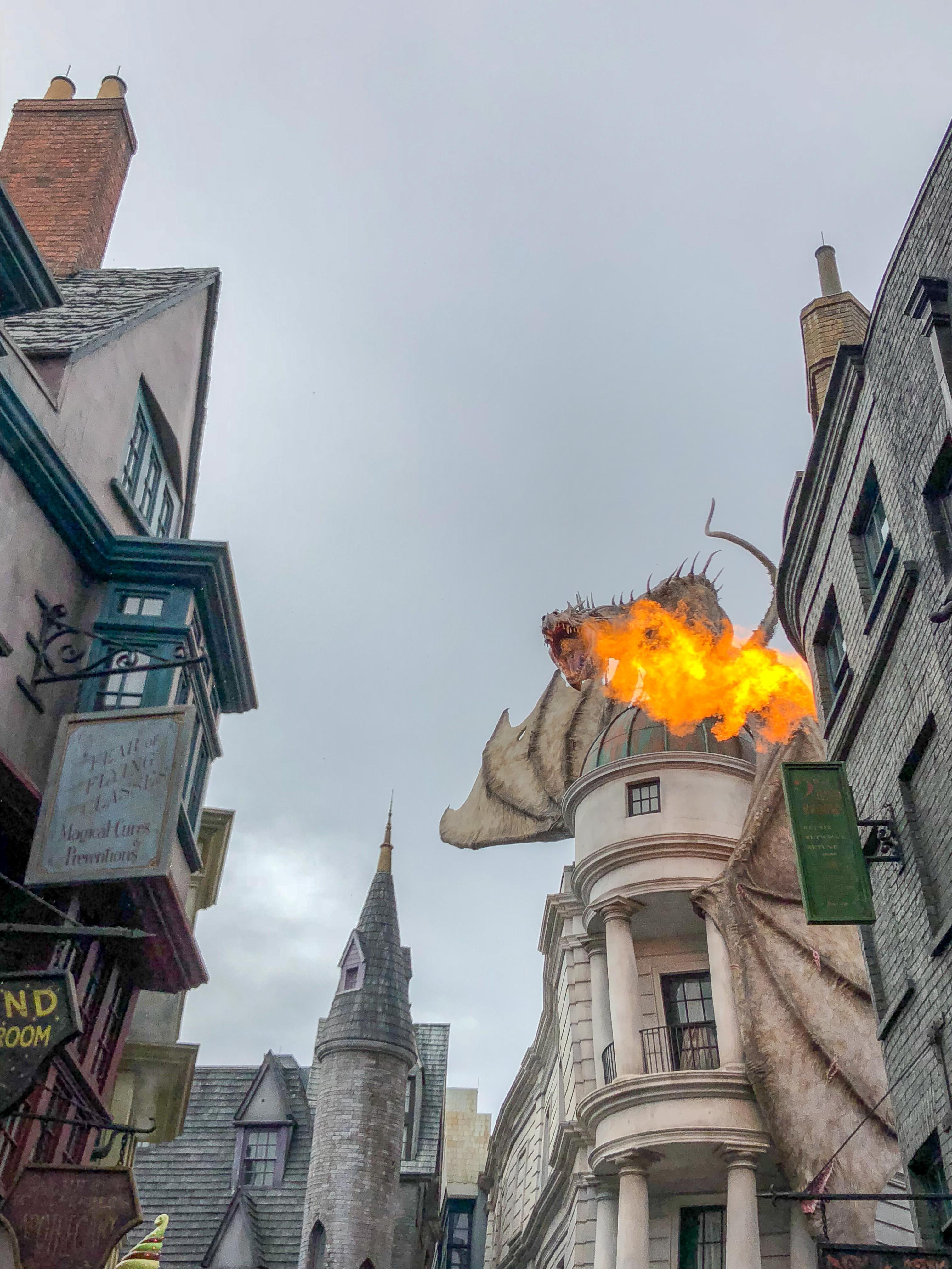 Dragon Gringotts Monde Magique Harry Potter Universal Orlando