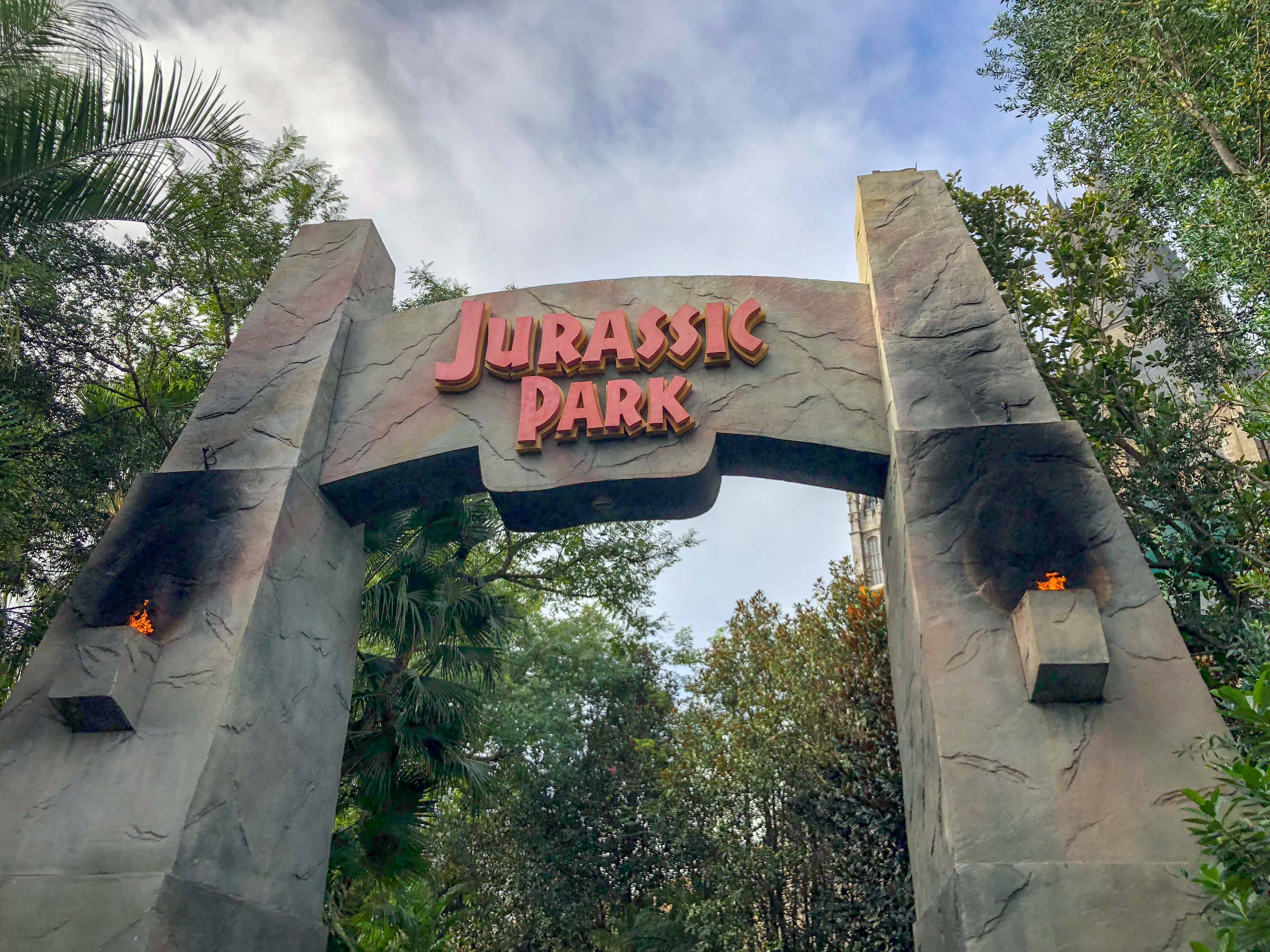 Jurrasic Park Gate Universal Islands Adventure Orlando