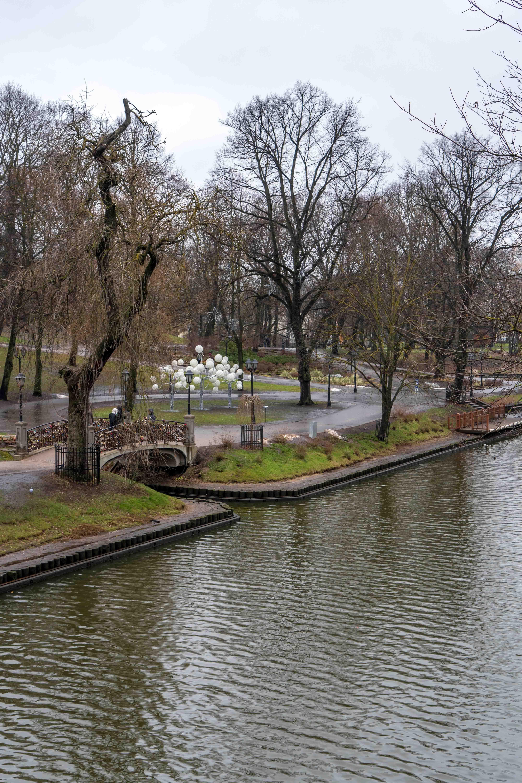 Jardins Bastejkalns Parc Centre Riga Canal Odysight