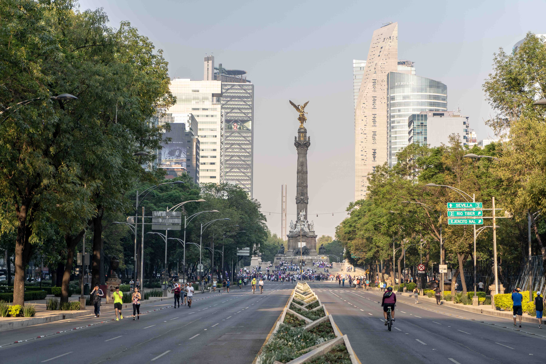 El Angel de la Independencia sur l'Avenida Paseo de Reforma.