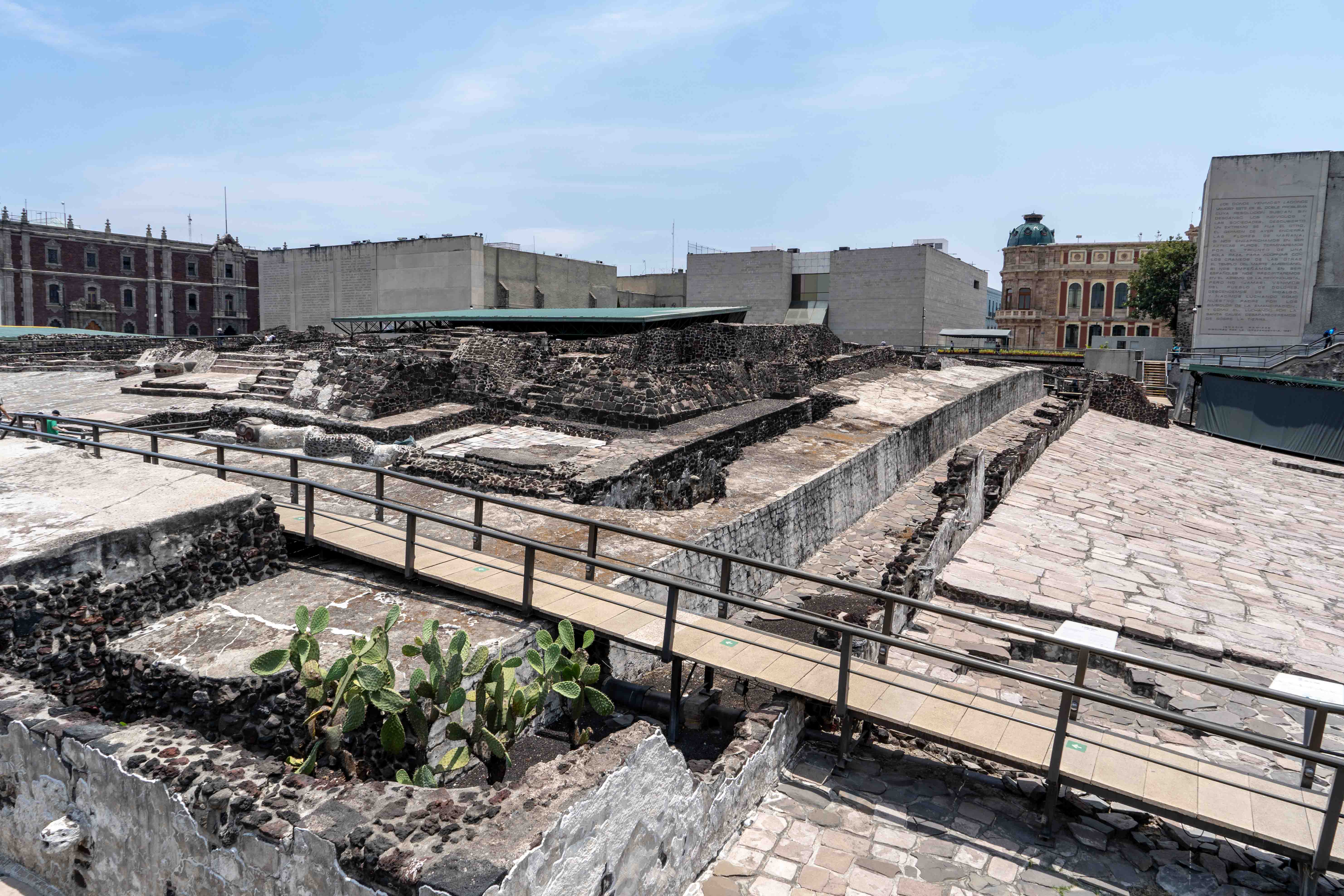 Les ruines du Templo Mayor à proximité du Zocalo à Mexique City.