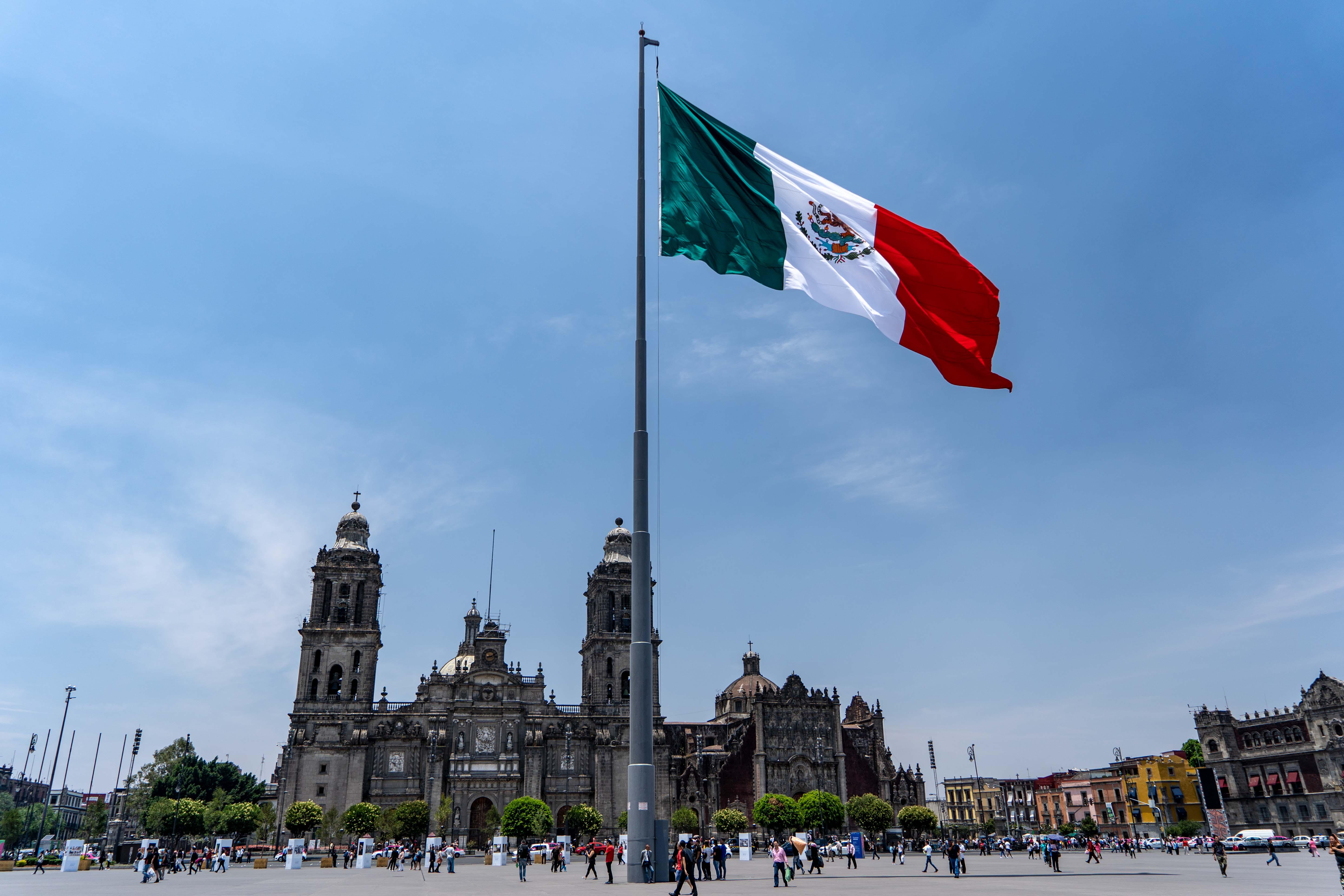 La cathédrale métropolitaine et le Palais présidentiel se trouvent sur le Zocalo, dans le centre historique de Mexico City