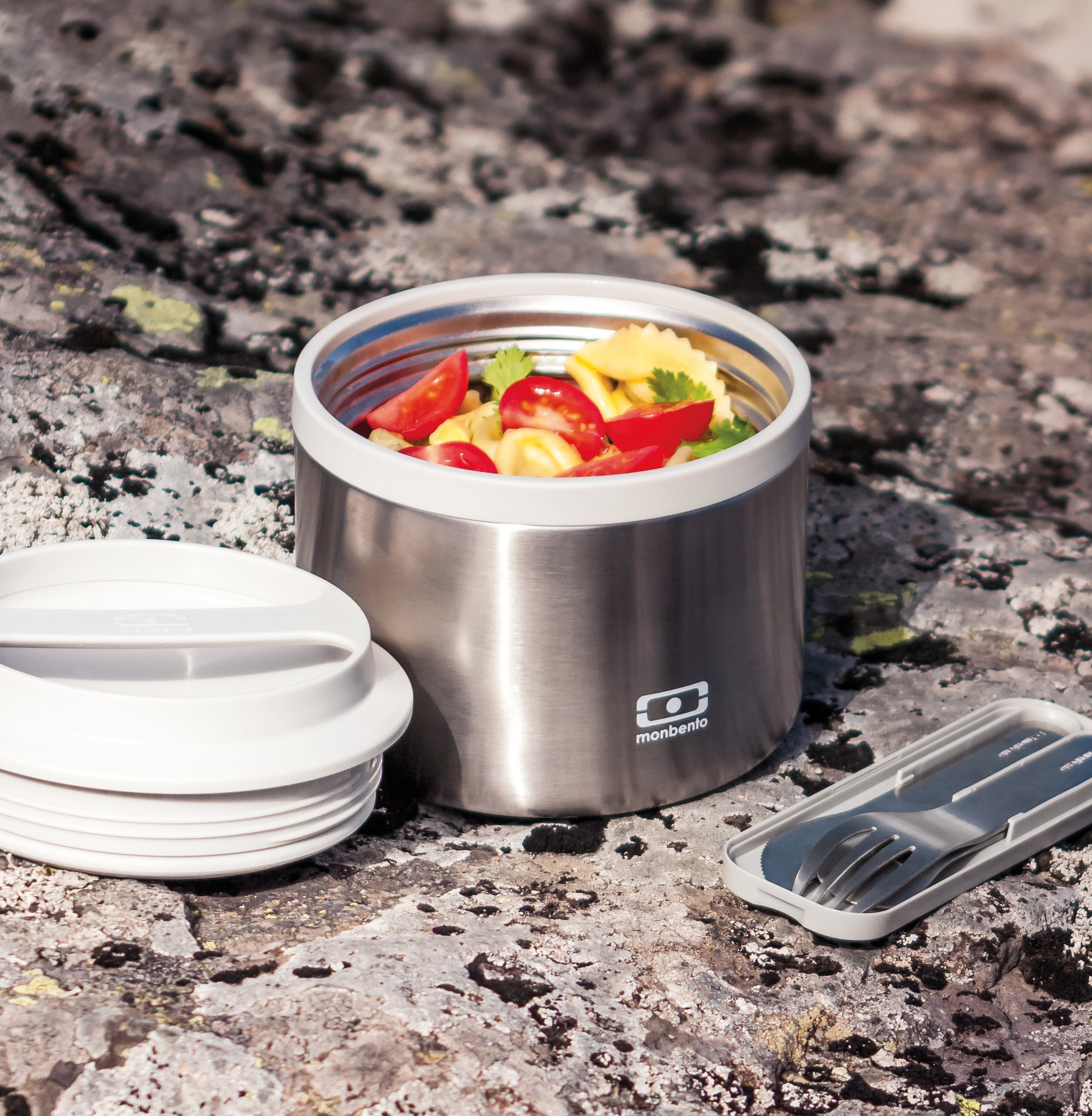Boite repas isotherme MB Element Metallic Silver by MONBENTO