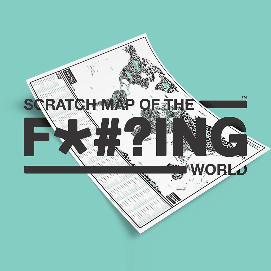 Carte du monde à gratter Scratch Map Original by LUCKIES
